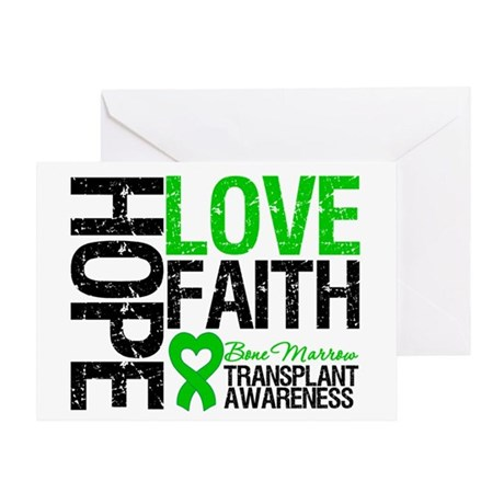 BMT Hope Love Faith Greeting Card
