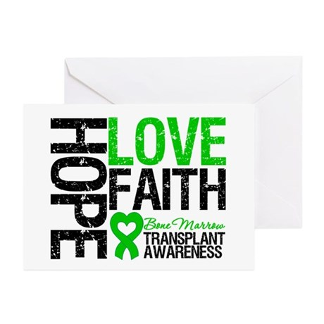 BMT Hope Love Faith Greeting Cards (Pk of 20)