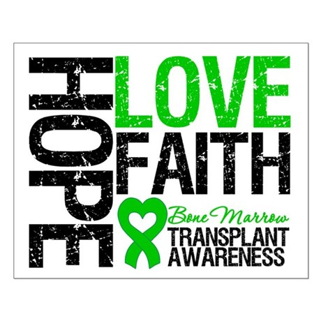BMT Hope Love Faith Small Poster