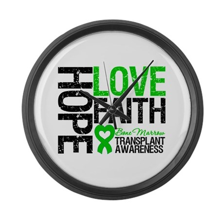 BMT Hope Love Faith Large Wall Clock