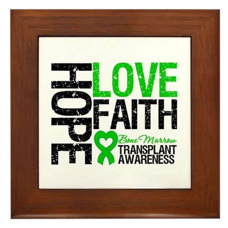 BMT Hope Love Faith Framed Tile