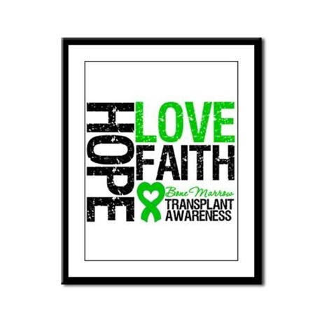 BMT Hope Love Faith Framed Panel Print