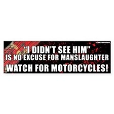 Black Manslaughter Bumper Bumper Sticker