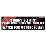 Black Manslaughter Bumper Car Sticker