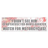 White Manslaughter Bumper Bumper Sticker