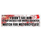 White Manslaughter Bumper Car Sticker