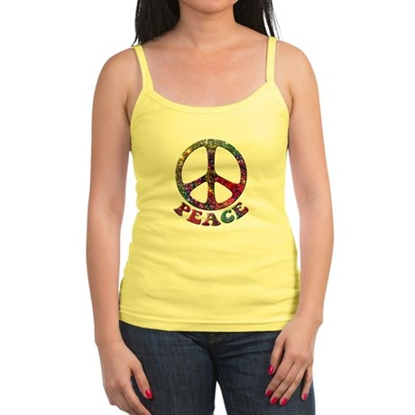 Jewelled Peace Symbol Jr. Spaghetti Tank