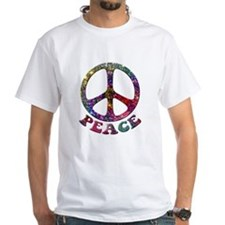 Jewelled Peace Symbol Shirt