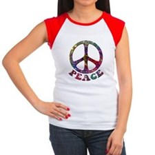 Jewelled Peace Symbol Tee