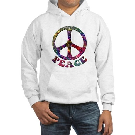 Jewelled Peace Symbol Hooded Sweatshirt