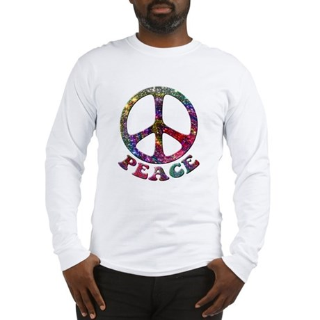 Jewelled Peace Symbol Long Sleeve T-Shirt