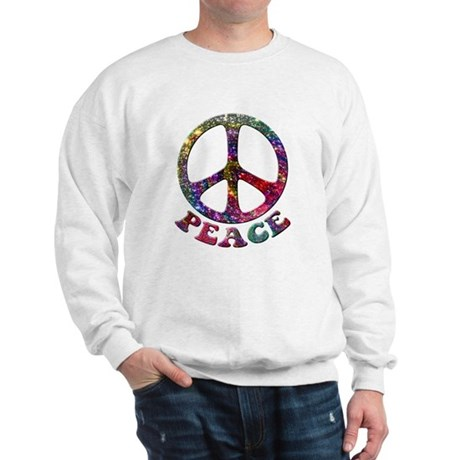 Jewelled Peace Symbol Sweatshirt