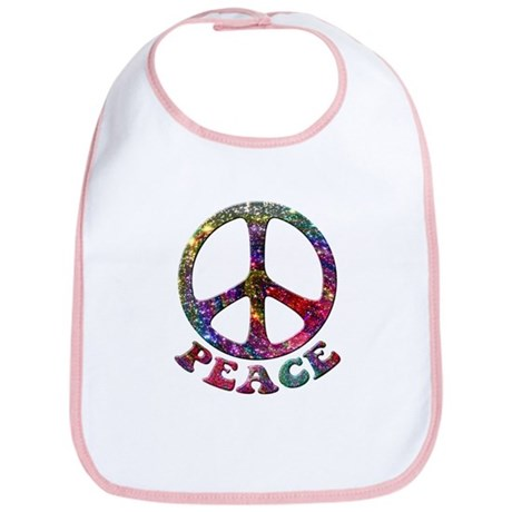 Jewelled Peace Symbol Bib