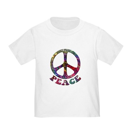 Jewelled Peace Symbol Toddler T-Shirt