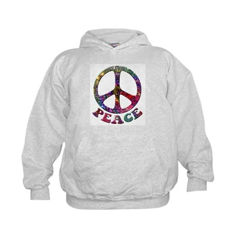 Jewelled Peace Symbol Kids Hoodie