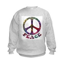 Jewelled Peace Symbol Kids Sweatshirt