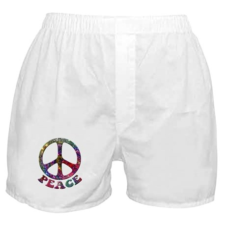 Jewelled Peace Symbol Boxer Shorts