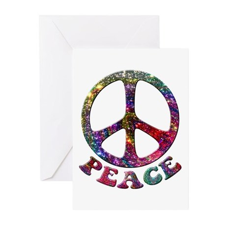 Jewelled Peace Symbol Greeting Cards (Pk of 10)