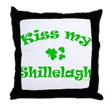 kiss my Shillelagh Throw Pillow