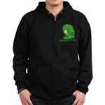 Naturally Curly Irish Hair Zip Hoodie (dark)