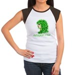 Naturally Curly Irish Hair Women's Cap Sleeve T-Sh