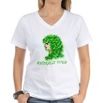 Naturally Curly Irish Hair Women's V-Neck T-Shirt