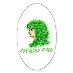 Naturally Curly Irish Hair Oval Sticker (10 pk)