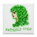 Naturally Curly Irish Hair Tile Coaster