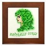 Naturally Curly Irish Hair Framed Tile