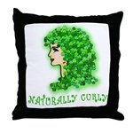 Naturally Curly Irish Hair Throw Pillow