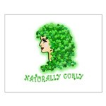 Naturally Curly Irish Hair Small Poster