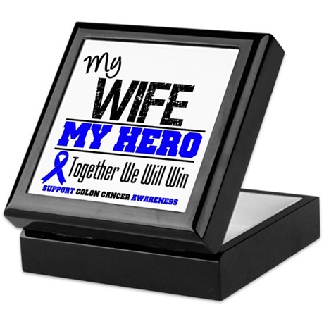 ColonCancerHero Wife Keepsake Box
