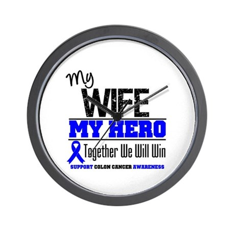 ColonCancerHero Wife Wall Clock