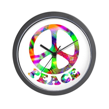 Pattern Peace Symbol Wall Clock