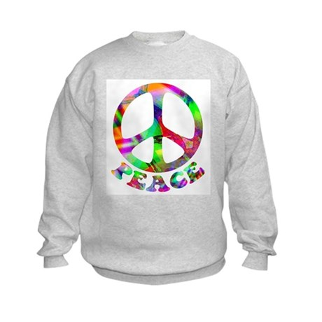 Pattern Peace Symbol Kids Sweatshirt