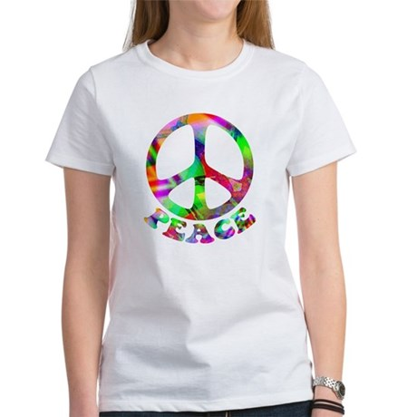 Pattern Peace Symbol Women's T-Shirt