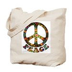 Painted Peace Symbol Tote Bag