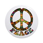 Painted Peace Symbol Ornament (Round)