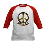Painted Peace Symbol Kids Baseball Jersey