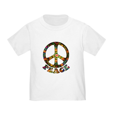Painted Peace Symbol Toddler T-Shirt
