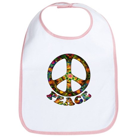 Painted Peace Symbol Bib