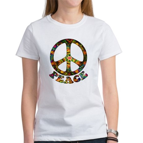 Painted Peace Symbol Women's T-Shirt