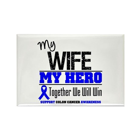 ColonCancerHero Wife Rectangle Magnet