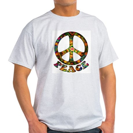 Painted Peace Symbol Light T-Shirt