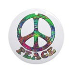 Swirling Peace Ornament (Round)