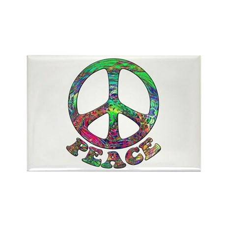 Swirling Peace Rectangle Magnet