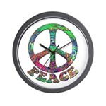 Swirling Peace Wall Clock