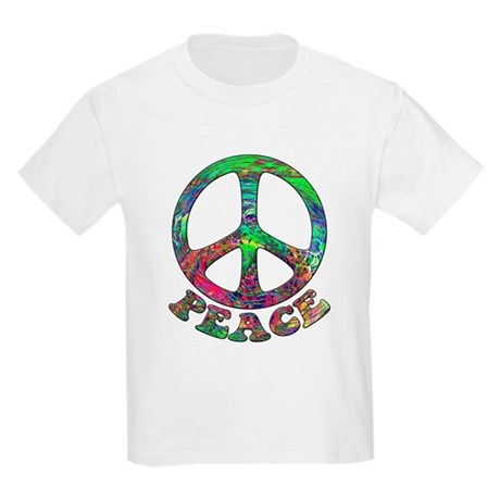 Swirling Peace Kids Light T-Shirt