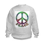 Swirling Peace Kids Sweatshirt
