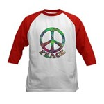 Swirling Peace Kids Baseball Jersey